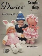 Crochet Dolls, Darice Crochet Doll Clothing Pattern Booklet CD-6 - $2.95