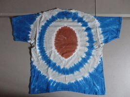RARE Vintage Liquid Blue New York Giants NFL Tye Tie Dye Die T-Shirt  Adult L image 3