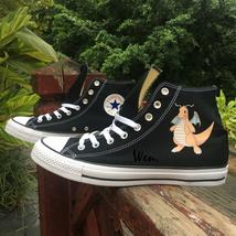 Black Converse Chuck Taylor Design Anime Pokemon Dragonite Canvas Shoes ... - $119.00