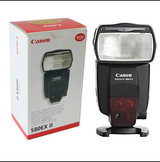 Canon Speedlite 580EX II Shoe Mount Flash For Canon DSLR