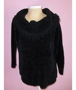 Fashion Bug Black Sweater with Fringe Acrylic Womens Size 18 / 20 - $17.99