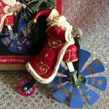 1999 HALLMARK ORNAMENT KRINGLE'S WHIRLIGIG - SANTA ON BICYCLE - $29.65