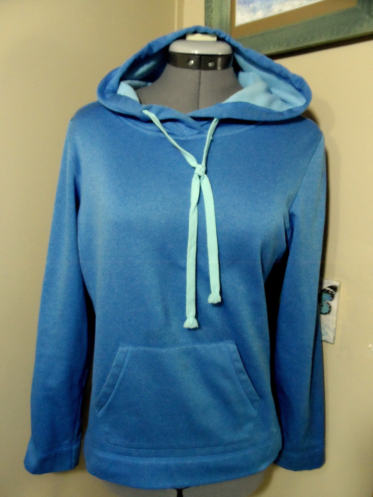 3fd03b8546b S l1600. S l1600. Previous. DANSKIN NOW Hoodie Sweatshirt S Heather Blue  fleece Pullover Sport Athletic Yoga