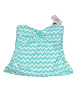 Juicy Couture Sz Medium Aqua Cream Tropical Wave Bandini Bikini Swim Top... - $33.65