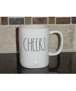 Rae Dunn CHEERS Rustic Mug, Ivory with Black Letters, New! - $12.00