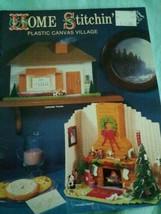 Home Stitchin' Plastic Canvas Village 1985 - $12.73