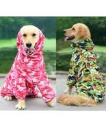 Pet Dog Puppy Waterproof Rainwear Raincoat Rain Coat Hooded Jacket Cloth... - $24.00