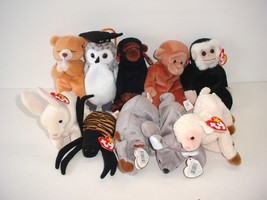 Lot of 10 Ty Beanie Baby Babies Plush 1996 to 1999 - $19.70