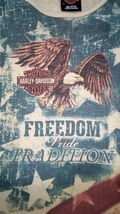 Harley Davidson Of Rehoboth Beach Delaware XL US Flag Womens embellished Blouse  image 9