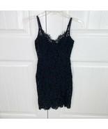 Fashion Nova Women's Dropping Hints Black Lace Sexy Mini Bodycon Dress S... - $24.74