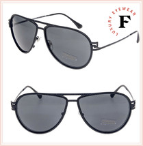 Versace Greca Stars Aviator VE2171B Matte Black Metal Sunglasses 2171 Unisex - $242.55
