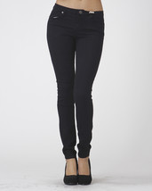 Stretch Skinny Black Jeans Mid Rise Pants Scarlet Boulevard