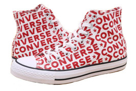 Converse Womens 9 White Red 163953C Chuck Taylor All Star Casual Shoes EUR 40 - $41.99