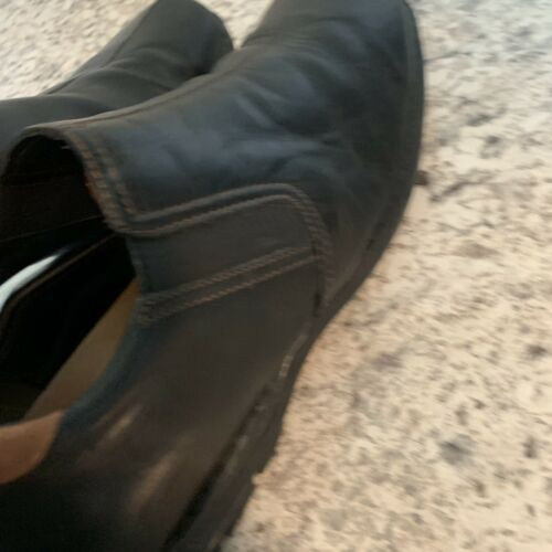 COLE HAAN casual dress Driving Loafer Slip On Black Leather Mens Sz 12 image 6