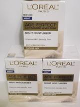 3 L'Oreal Paris Age Perfect Anti-Sagging + Even Tone Night Moisturizer 2... - $29.95