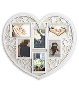 JOICE GIFT White Wall Large Hanging Heart Shape Collage Picture Frame 6 ... - $39.13