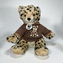 "Build A Bear 2007 WWF Cheetah 12"" Plush With Shirt Crazy Brown Rare Stuffed - $13.91"