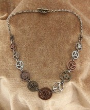 SteamPunk Cosplay Victorian Clock Gears Chain Necklace, NEW UNUSED - $12.13