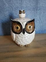 """1960's Ceramic """"OWL"""" Cookie Jar w/BABY OWL on Knob by OMC OTAGIRI JAPAN  - $40.84"""