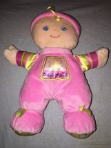 Fisher Price Baby's First Doll Plush 10 Inch Pink Shake Rattle EUC M9528... - $10.88