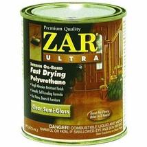 2x ZAR Ultra 1 Pint 33011 Exterior Oil-Based Clear Semi-Gloss Polyurethane UGL