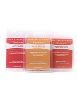 Natural Scented Soy Wax Melts, 3 Pack, Fall Favorites Variety Pumpkin Sp... - $15.05