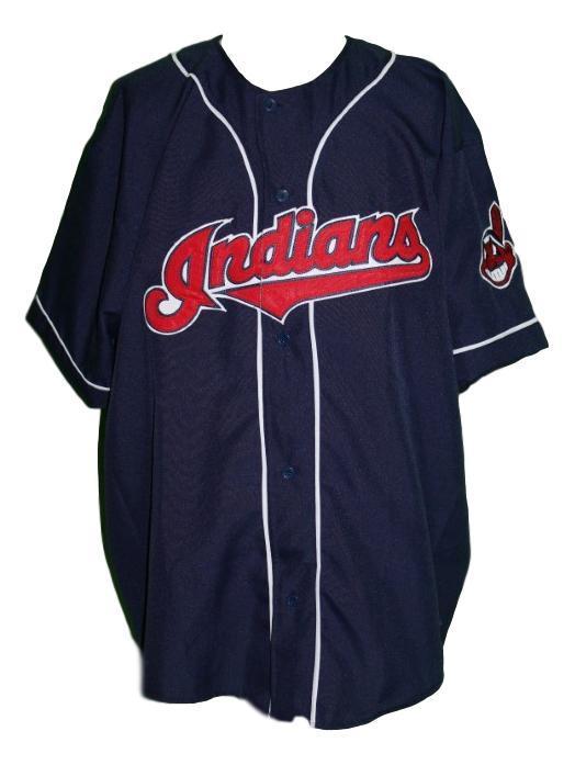 Rick vaughn  99 wild thing major league movie baseball jersey navy blue  1