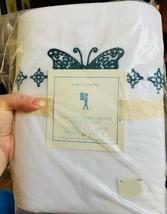 Pottery Barn Kids Windsor Duvet Cover Queen 2 Standard Shams Butterfly Embroider - $178.94