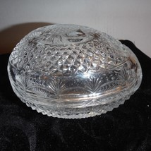 Vintage Avon Mother's Day Crystal Fostoria Egg Shaped Dish With Original... - $28.05