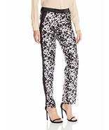 New NWT Womens Designer Rachel Zoe Pant Slacks 6 Work Black White Ange S... - $132.75