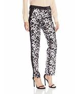 New NWT Womens Designer Rachel Zoe Pant Slacks 6 Work Black White Ange S... - $118.00