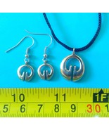 Pair earrings &1 pendant Filipino Ifugao tribal Brass/silver Fertility j... - $29.21