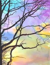 "Akimova: WINTER TREE, watercolor, forest, sunset, size approx.8.5""x11"" - $15.00"