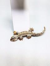 Salamander Vintage Pin Gold tone Silver tone 3 inch brooch - $11.69