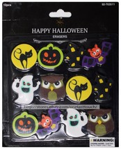 MOMENTUM* 12 Count HAPPY HALLOWEEN Party Favors/Bag Fillers ERASERS *YOU CHOOSE* image 2