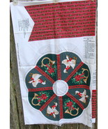 Duck Christmas Wreath Fabric Panel Hallmark A Christmas Gathering - $18.00