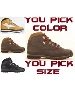TIMBERLAND MEN'S CLASSIC LEATHER EURO HIKER HIKING BOOTS SHOES PICK COLO... - $88.95