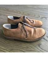 Clarks Bushacre Nubuck Brown Leather Oxford Shoes Size 9M  Mens  34023 - $27.72