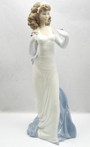 "NEW IN BOX LLADRO #6608 ""ANTICIPATION"" LADY W/FLOWERS LTD ED RETIRED 12.... - $299.99"