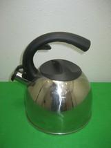 Mr. Coffee Stainless Steel Tea Kettle Whistling Black Bakelite Handles C... - $14.92