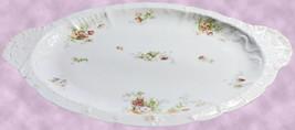 """JPL Jean Pouyat Limoges France Pink Flowers 17"""" Turkey Platter Scalloped... - $39.00"""