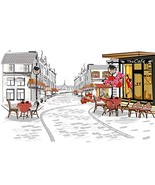 Baocicco Street Views in Old City Hand Drawn Backdrop 10x8ft Photography... - $37.82