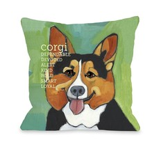 One Bella Casa Corgi 1 Pillow, 26 by 26-Inch - €49,31 EUR