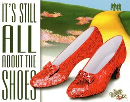 Wizard of Oz It's All About the Shoes Ruby Dorthy Movie Metal Tin Sign New - $14.99