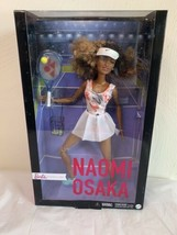 Barbie Role Models Naomi Osaka Doll Wearing Tennis Dress With Racket *In... - $69.29