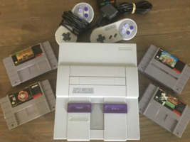 Super Nintendo Console Excellent condition with 4 games and 2 controllers! - $139.99