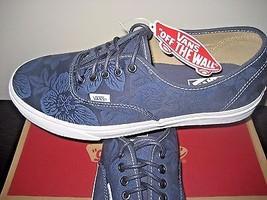042cb1f79d21e2 Vans Authentic Mens Floral Jacquard Parisian Night Blue Canvas shoes Sz ...  - £