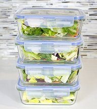 Premium 4 Sets Glass Meal Prep Food Storage Con... - $36.45