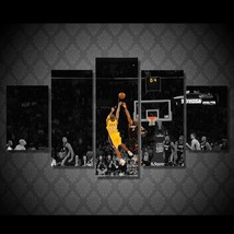 5 Pcs Basketball Star 24 Bryant Home Decor Wall Picture Printed Canvas P... - $45.99+