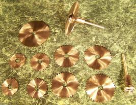 12 pc HSS SAW BLADE DISCS w/2 Holders Mini Hobby Blades dremel drill rotary tool - $19.99